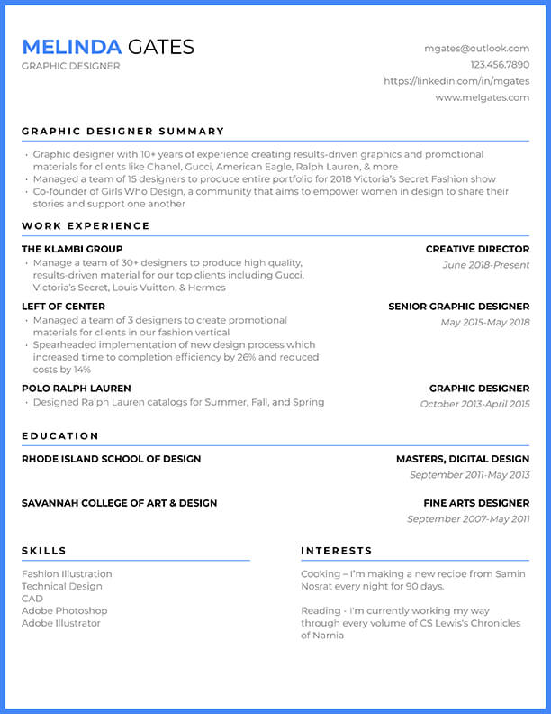 Free Resume Templates & Resume Builder - Cultivated Culture