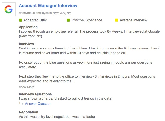 How To Get A Job Anywhere With No Connections - Account Manager Interview