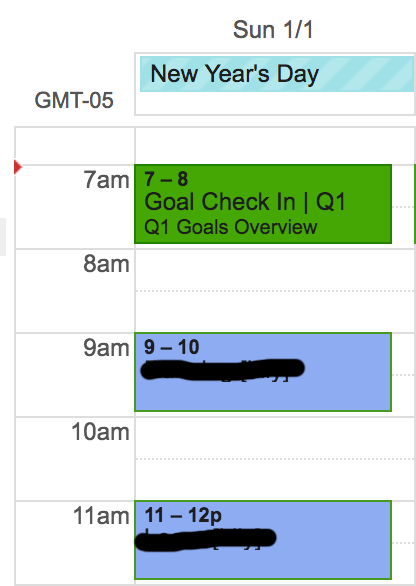 Quarterly Goal Check In Calendar Invite Screenshot