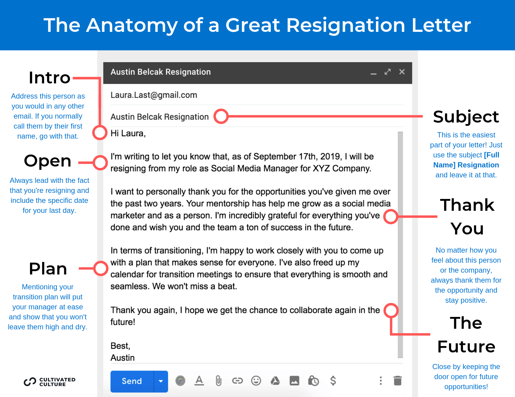 How To Write A Resignation Letter Infographic