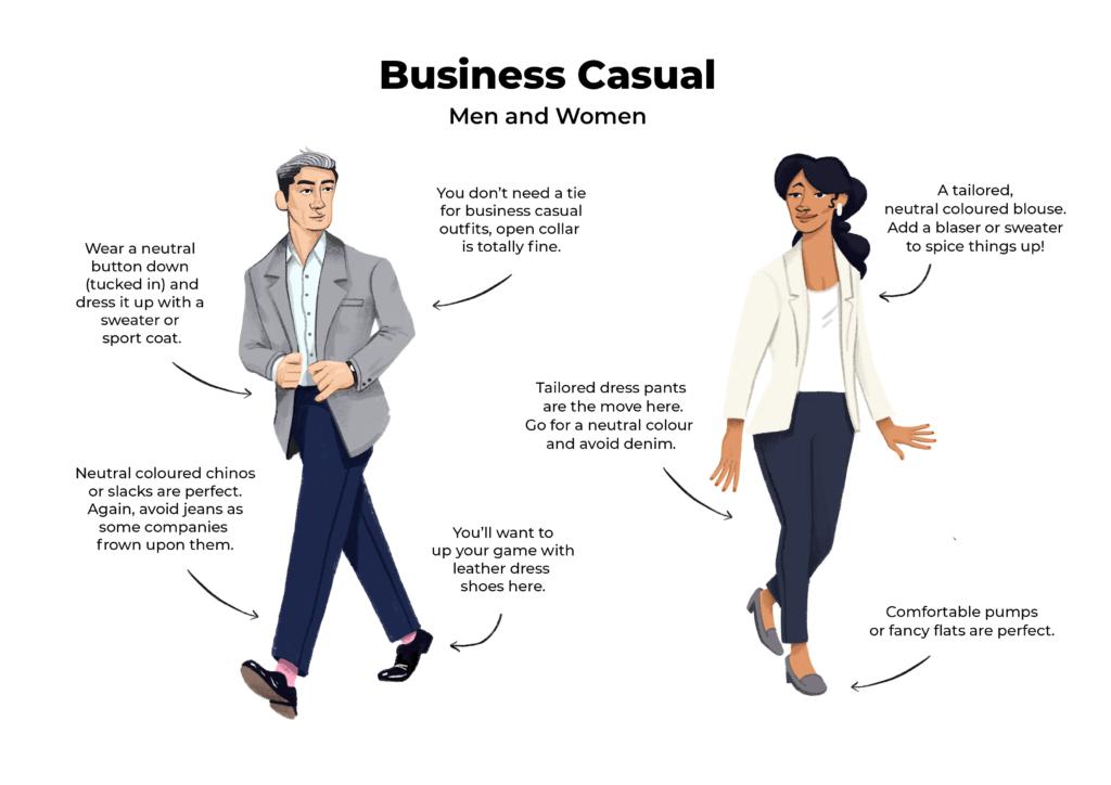 businesscasualinterviewattireexamplesformenwomen