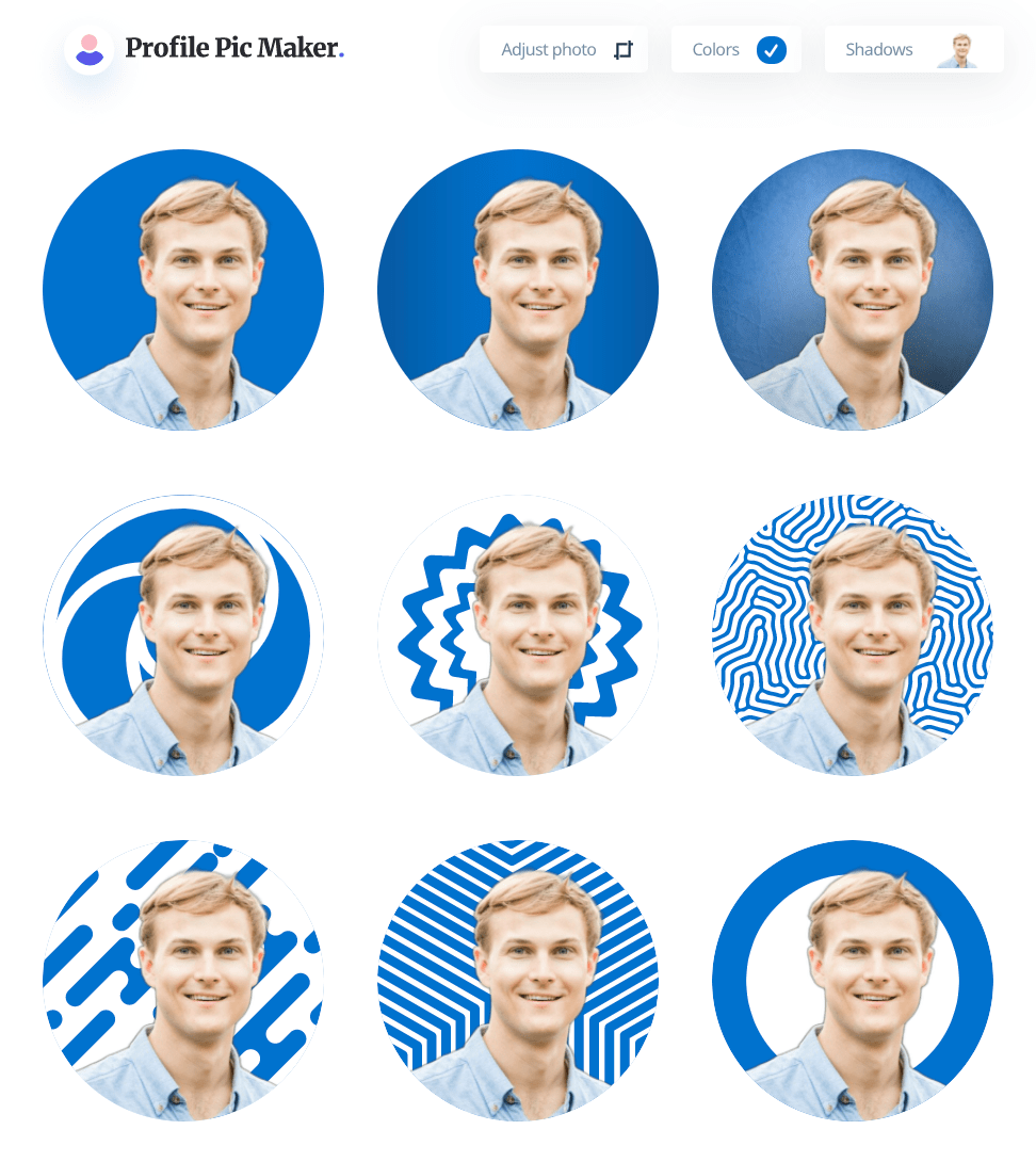 Example LinkedIn Profile Pictures from PFP Maker
