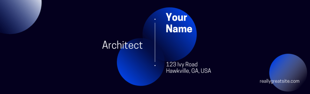 LinkedIn Banner Image example that displays name and title