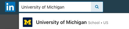 University of Michigan LinkedIn Page