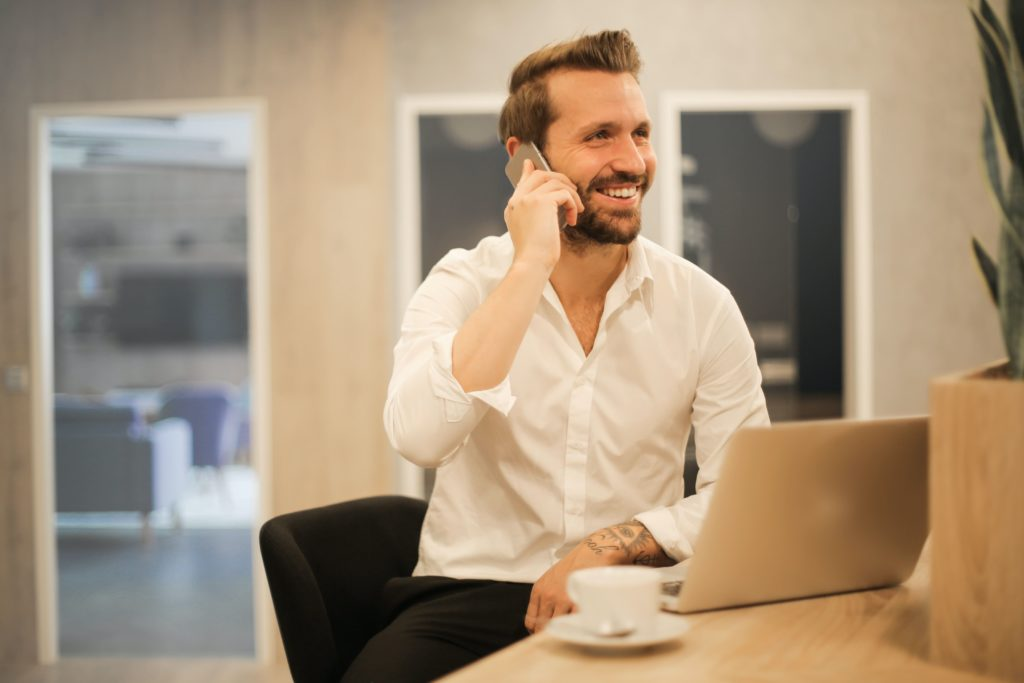 man asking someone to be his reference for a new job